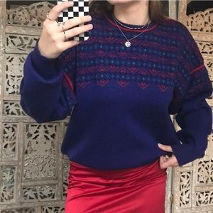 Vintage Purple, Red, and Blue Sweater🧬